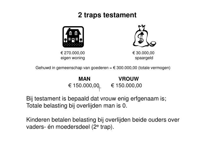 2 traps testament