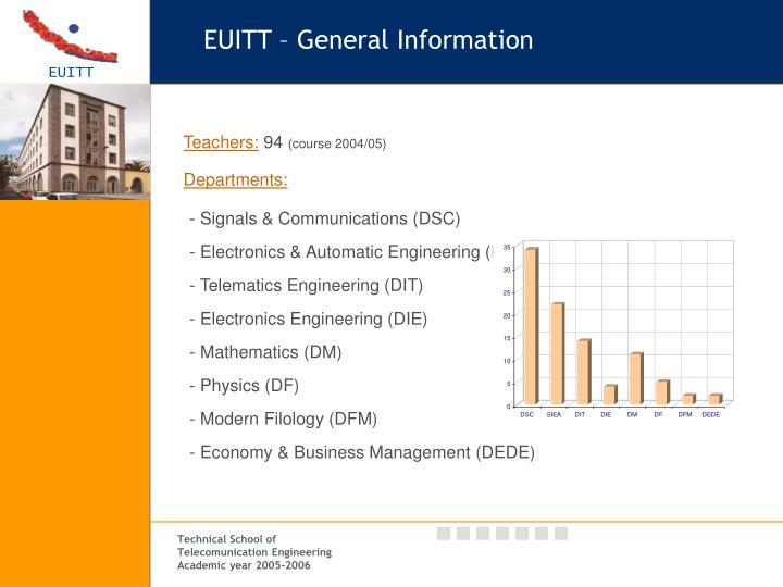 EUITT – General Information