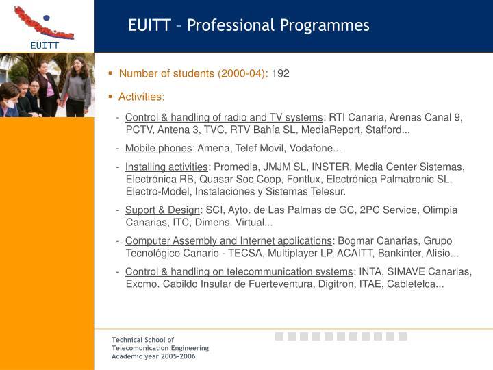 EUITT – Professional Programmes