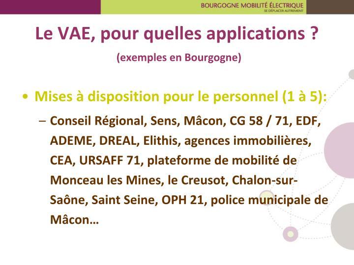 Le VAE, pour quelles applications ?