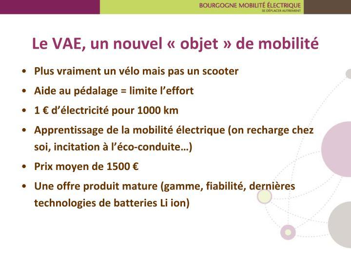 Le VAE, un nouvel «objet» de mobilité