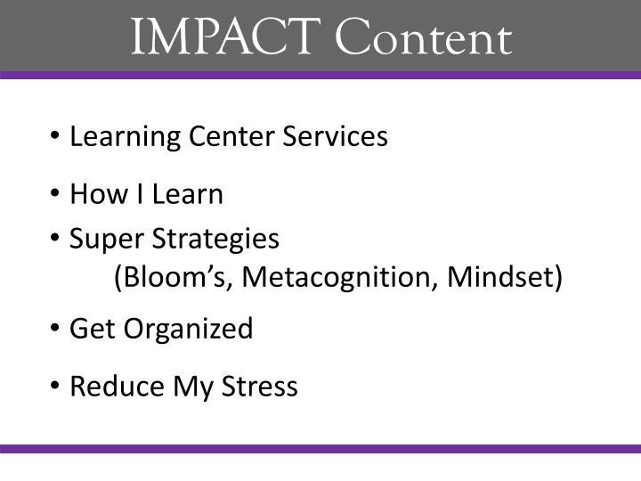 IMPACT Content