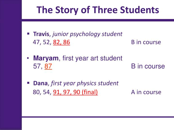 The Story of Three Students