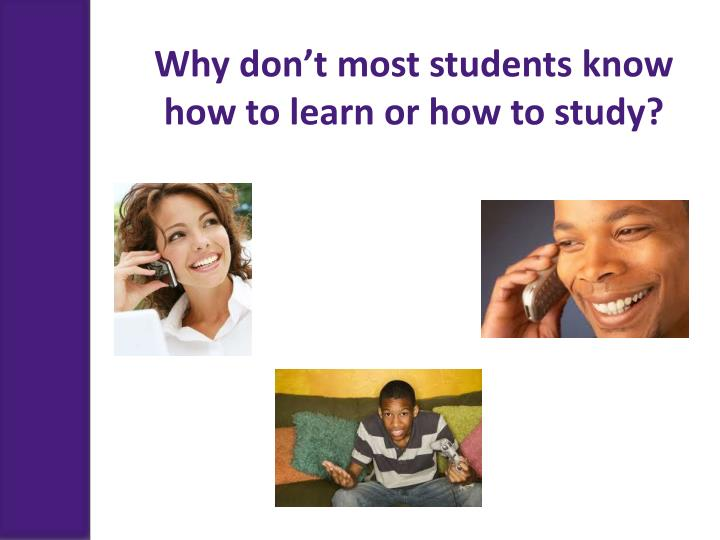 Why don't most students know