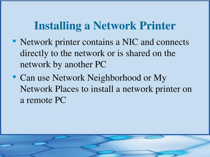 Installing a Network Printer