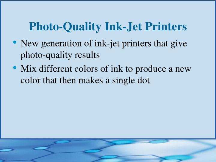 Photo-Quality Ink-Jet Printers