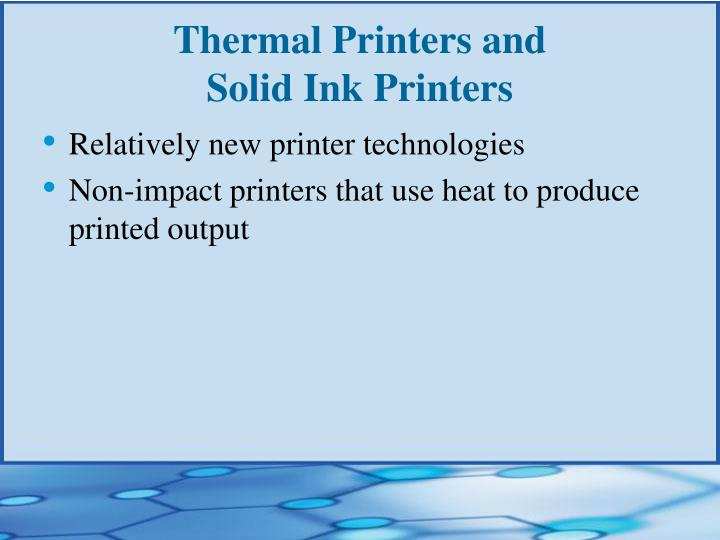 Thermal Printers and
