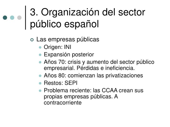 3. Organización del sector público español