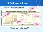 1 3 an example system