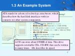 1 3 an example system10
