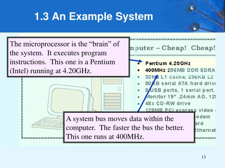 1.3 An Example System