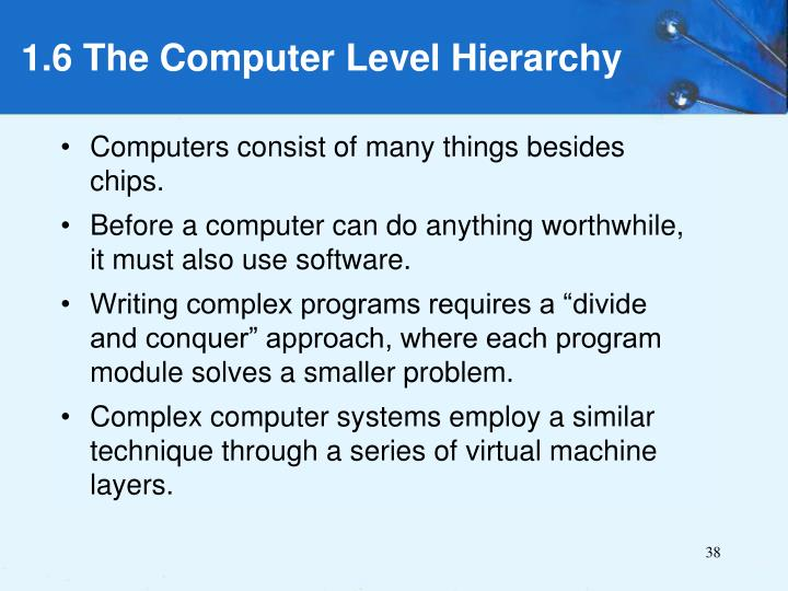 Computers consist of many things besides chips.