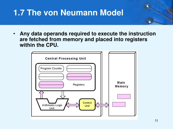 Any data operands required to execute the instruction are fetched from memory and placed into registers within the CPU.