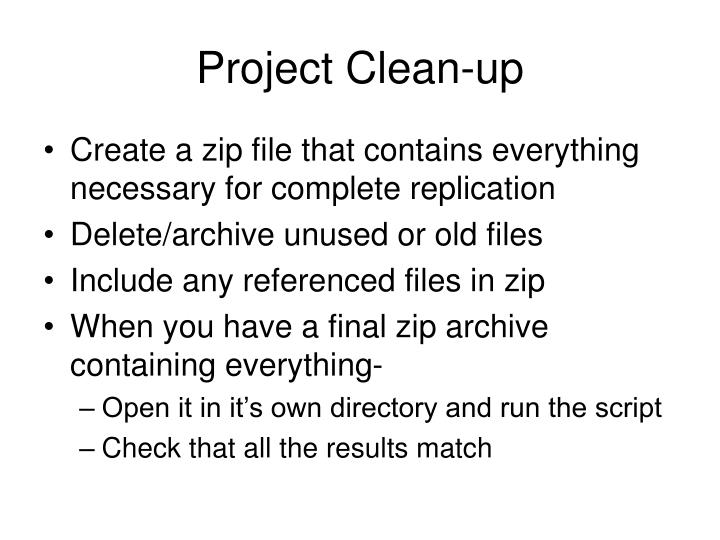 Project Clean-up