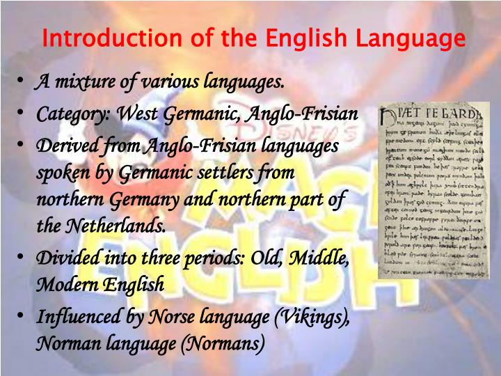 Introduction of the english language