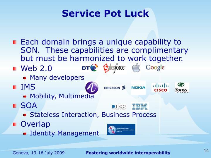 Service Pot Luck
