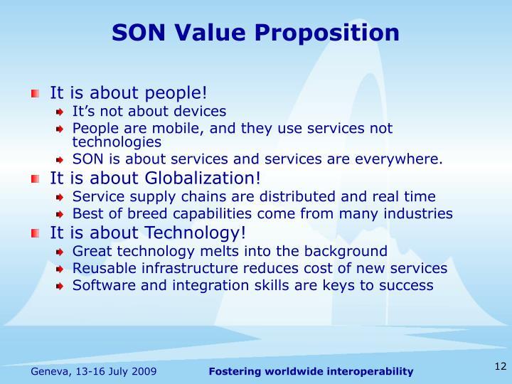 SON Value Proposition