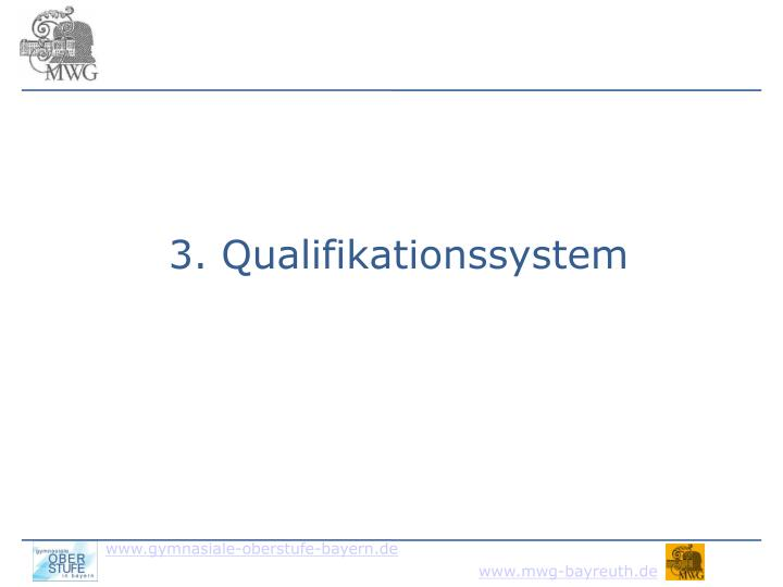 3. Qualifikationssystem