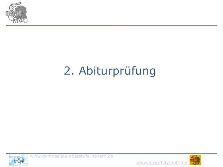 2. Abiturprüfung