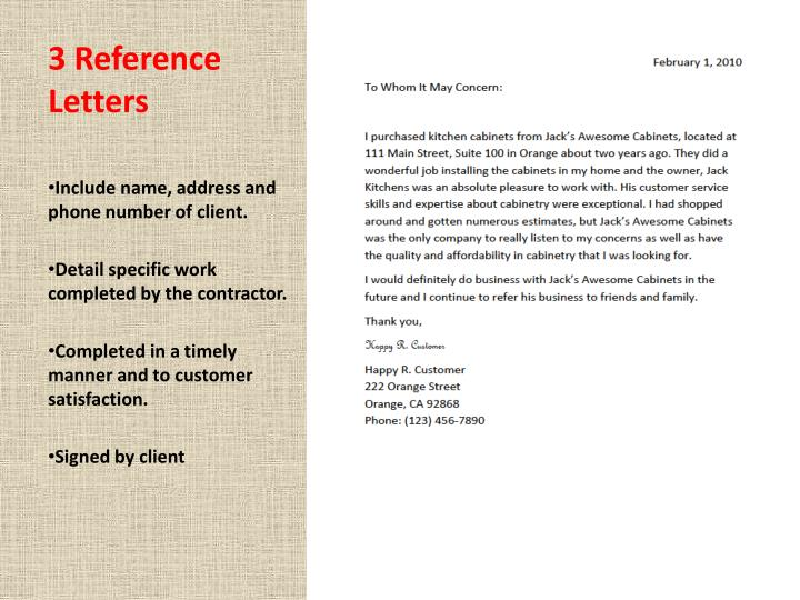 3 Reference Letters