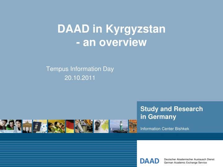 Daad in kyrgyzstan an overview