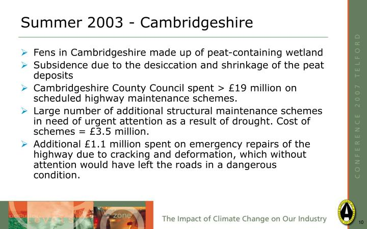 Summer 2003 - Cambridgeshire