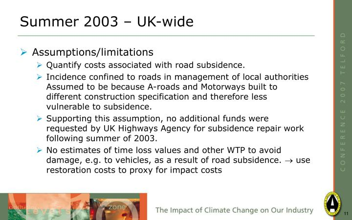 Summer 2003 – UK-wide