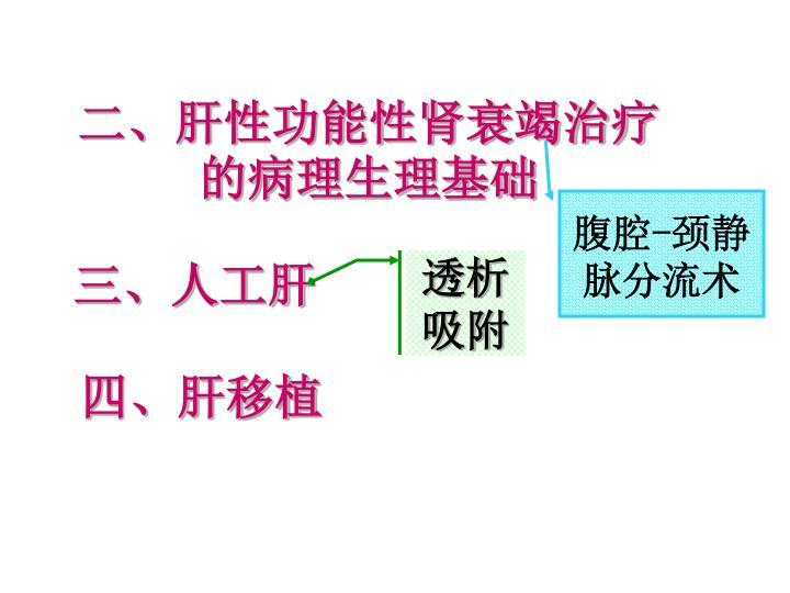 二、肝性功能性肾衰竭治疗的病理生理基础