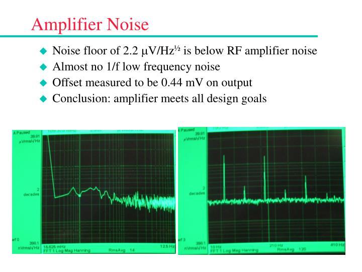 Amplifier Noise