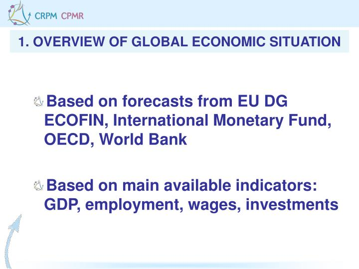 1. OVERVIEW OF GLOBAL ECONOMIC SITUATION