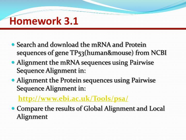 Homework 3.1