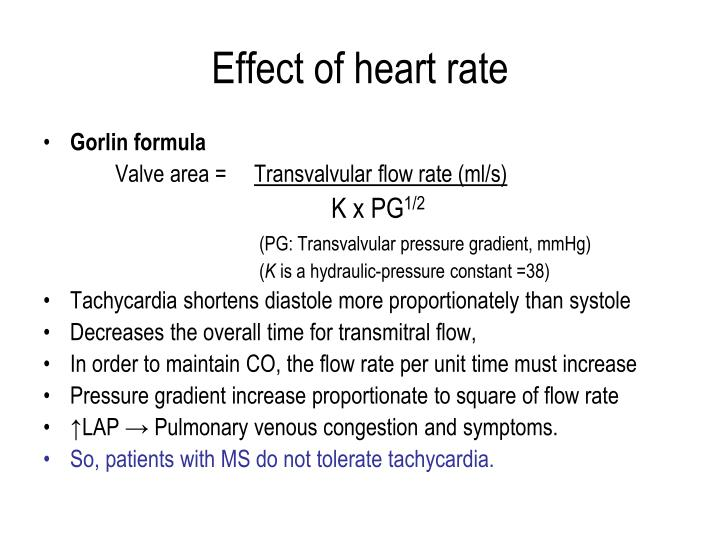 Effect of heart rate