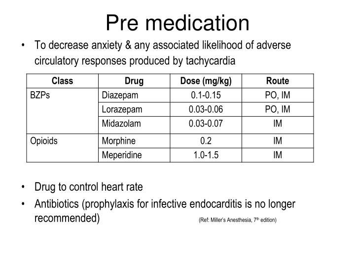 Pre medication