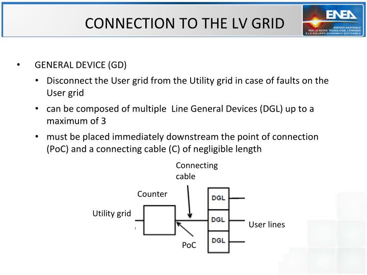 CONNECTION TO THE LV GRID