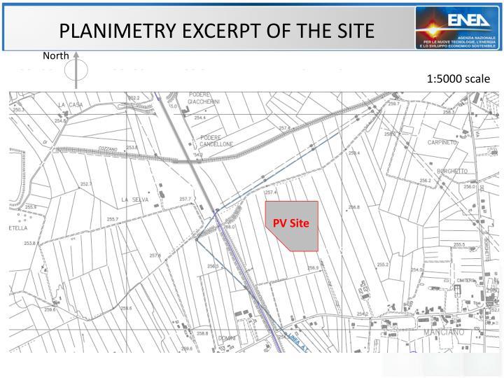 PLANIMETRY EXCERPT OF THE SITE