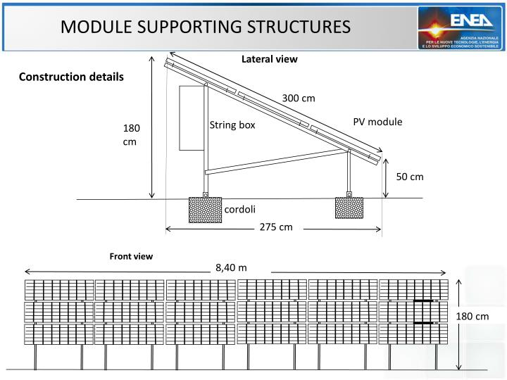 MODULE SUPPORTING STRUCTURES