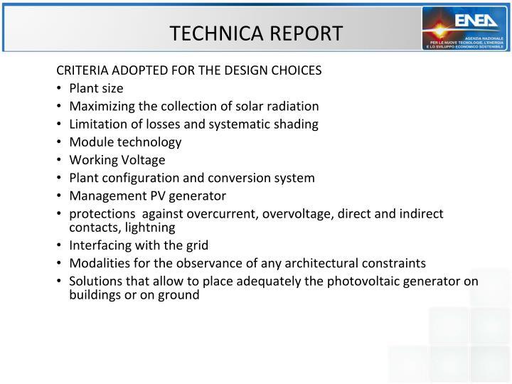 TECHNICA REPORT