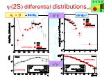 y 2s differential distributions