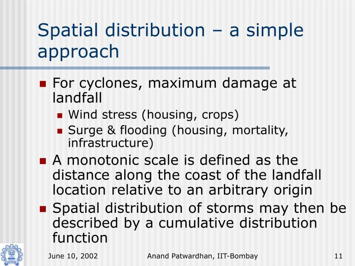 Spatial distribution – a simple approach