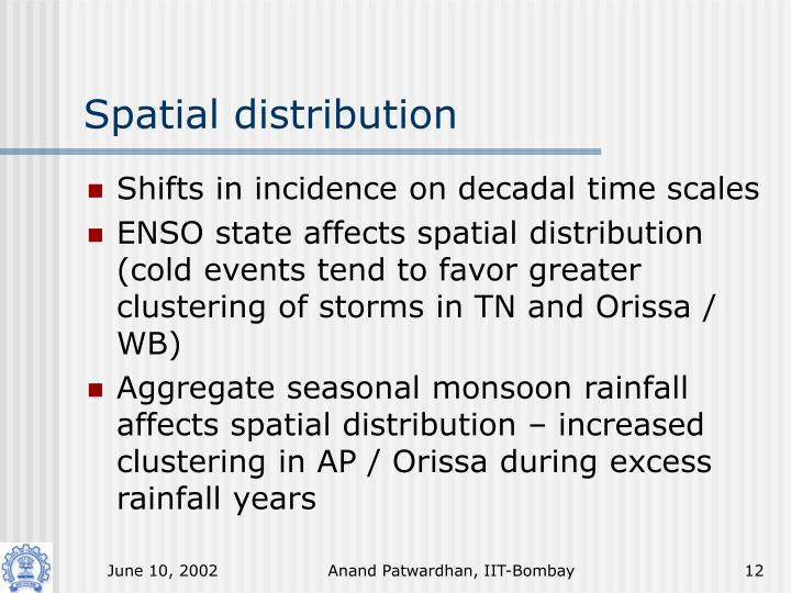 Spatial distribution