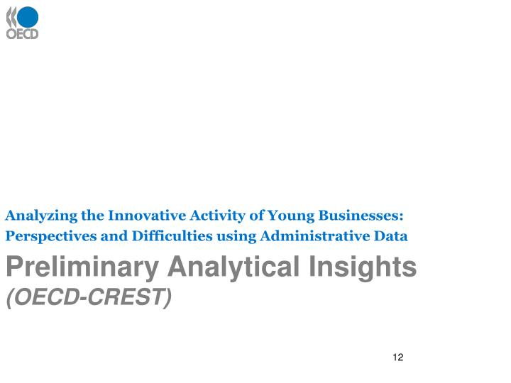 Analyzing the Innovative Activity of Young Businesses: