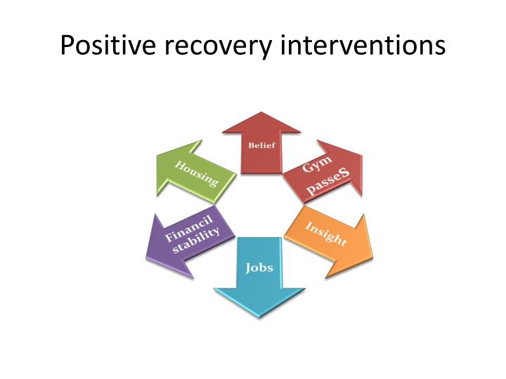 Positive recovery interventions