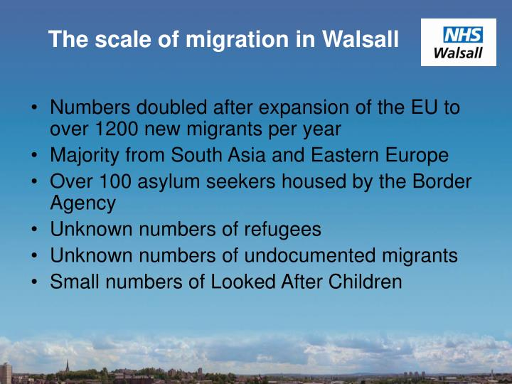 The scale of migration in Walsall