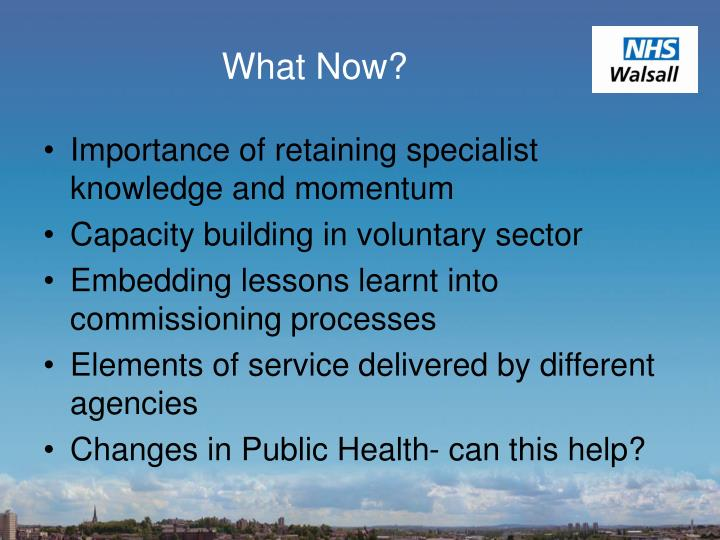 Importance of retaining specialist knowledge and momentum