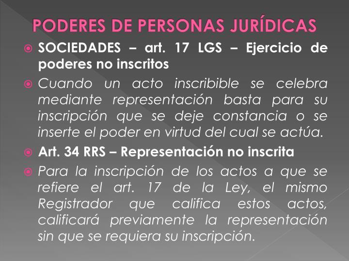 PODERES DE PERSONAS JURÍDICAS