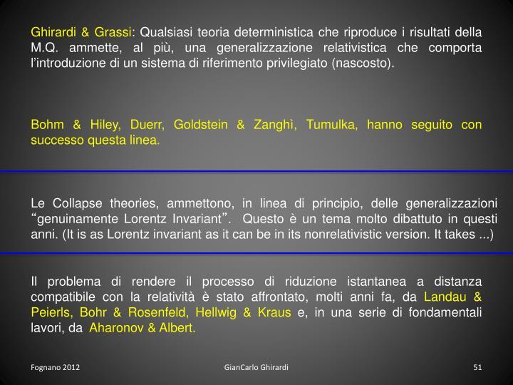 Ghirardi & Grassi