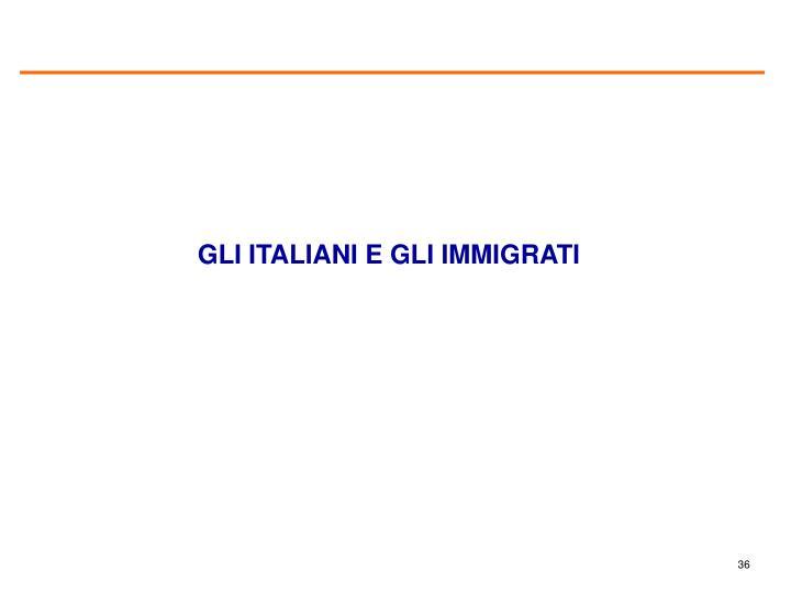 GLI ITALIANI E GLI IMMIGRATI