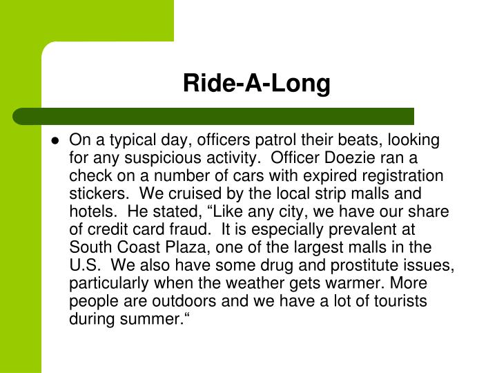 Ride-A-Long