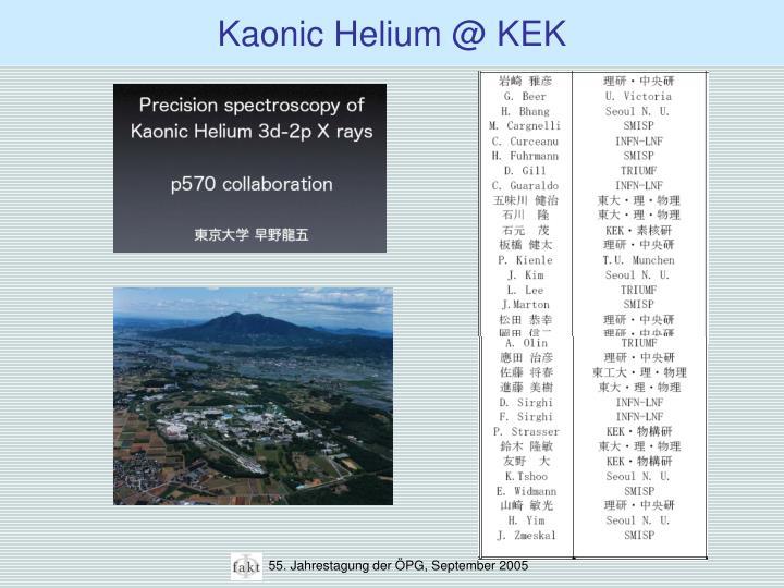 Kaonic Helium @ KEK