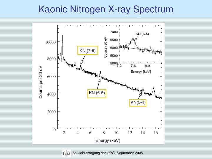 Kaonic Nitrogen X-ray Spectrum